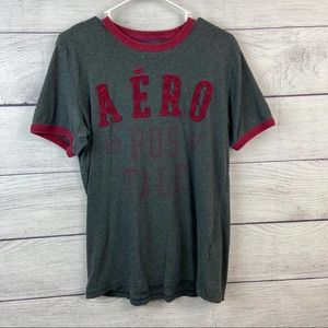 Aeropostale grey t-shirt with red lettering size M